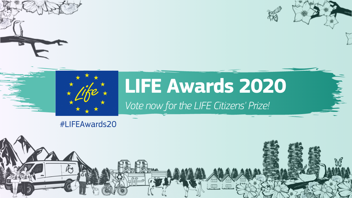 """Glasovanje za Nagrado javnosti """"LIFE Citizens' Prize 2020 """" se je začelo"""