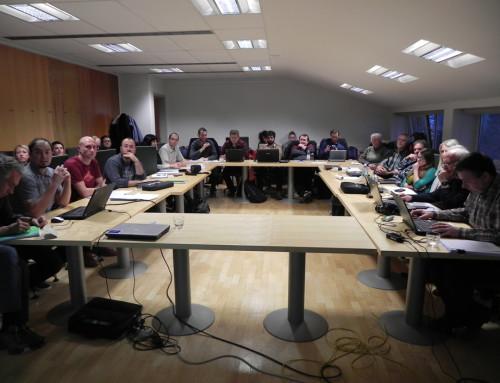 Das erste Treffen der Projektmitglieder