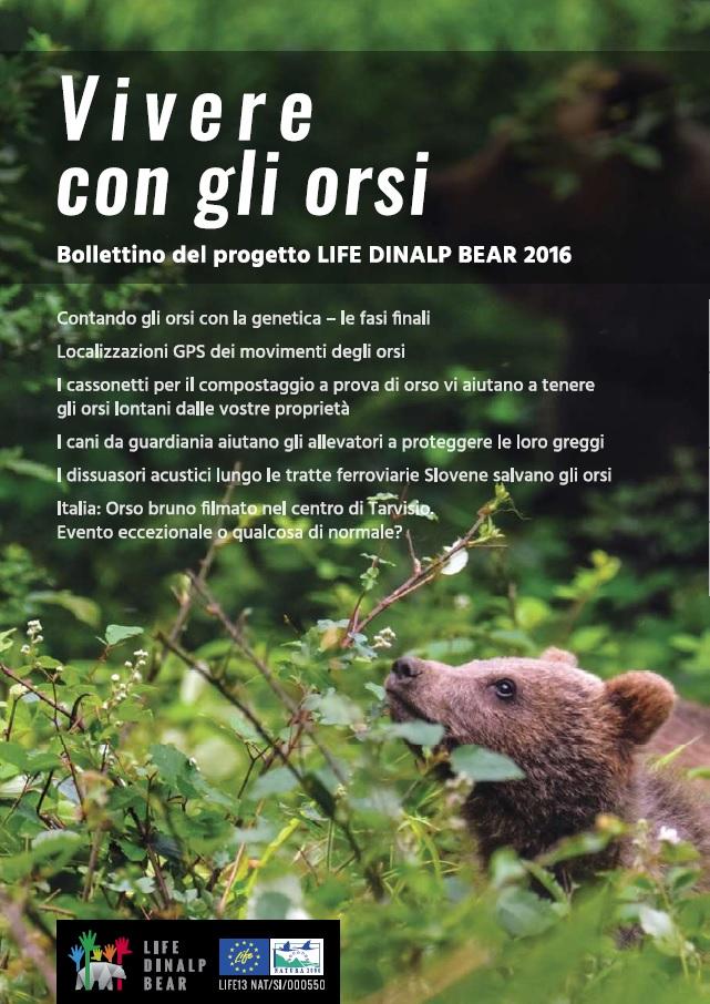 È pronto il secondo bollettino del LIFE DINALP BEAR