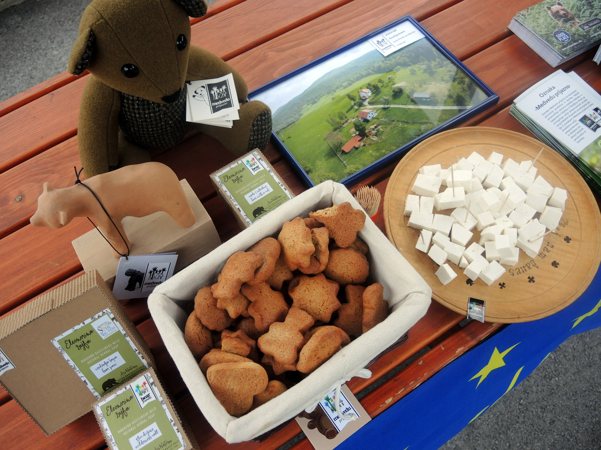 Bear-friendly products presented in Pivka