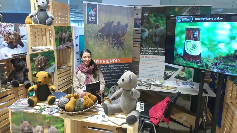 About responsible bear-tourism practices on Natour Alpe-Adria fair in Ljubljana