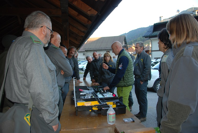 Bear Intervention Group training in Tarvisio