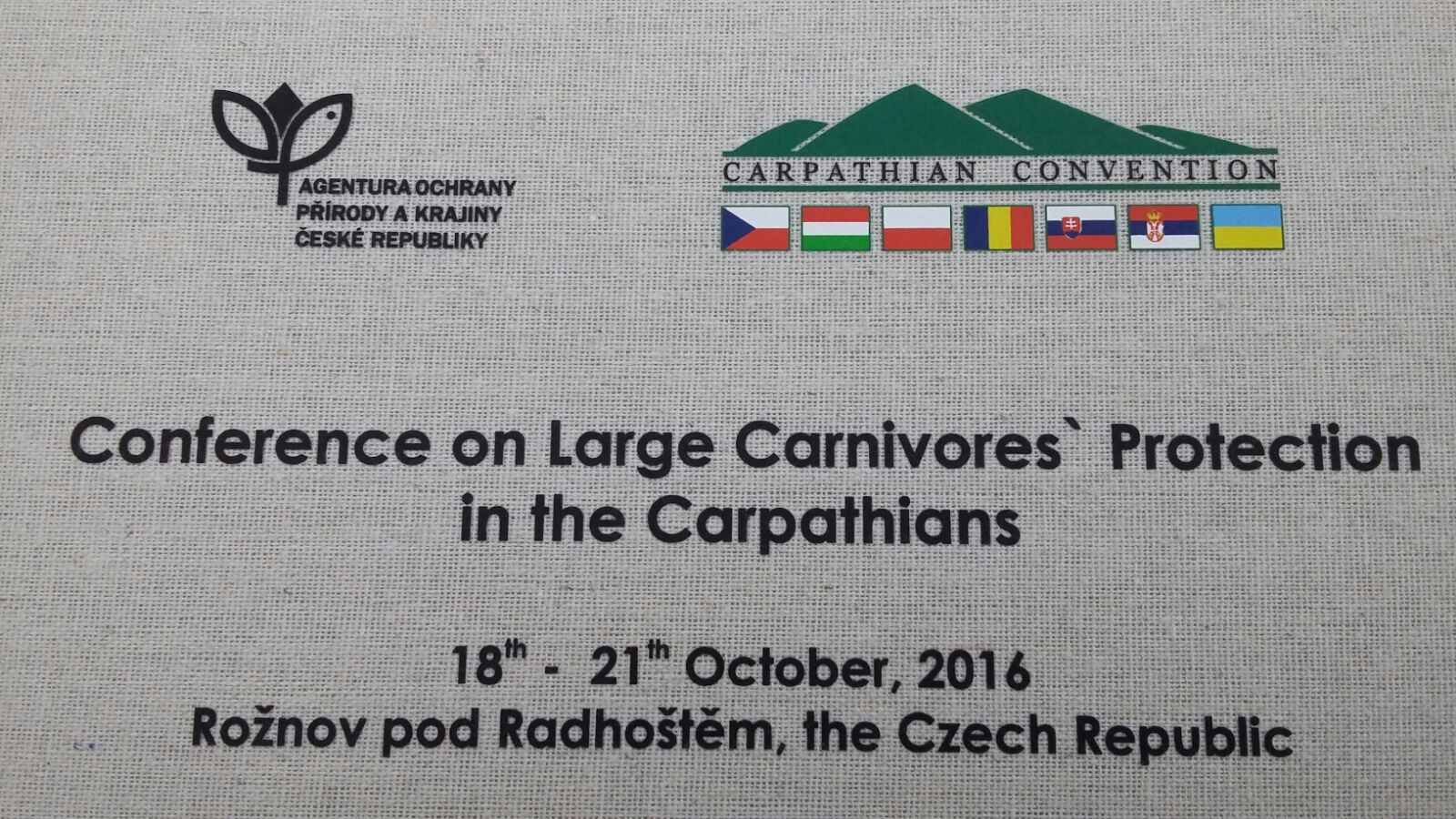 Conference on Large Carnivores' Protection in the Craphatians a Roznov (Repubblica Ceca)