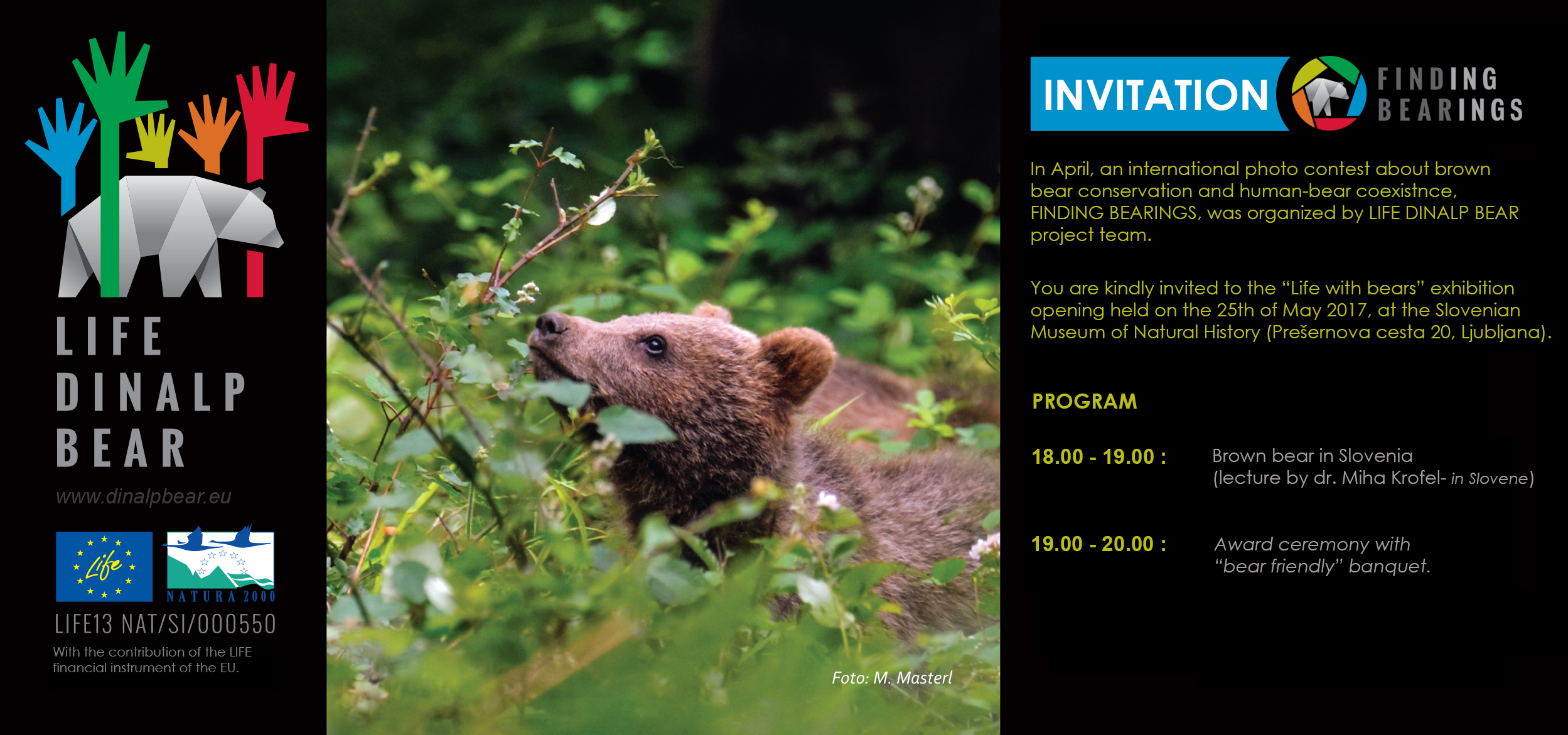 "Invitation to ""Life with bears"" photo exhibition"