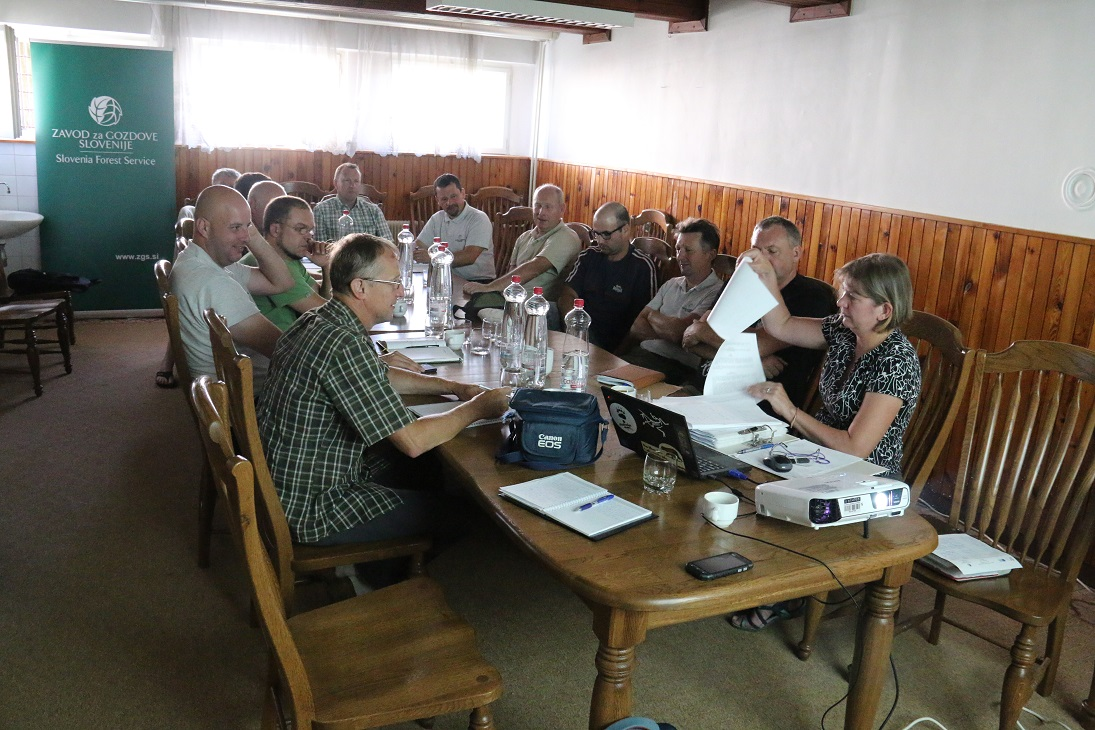 Meetings with damage inspectors from Slovenia Forest Service