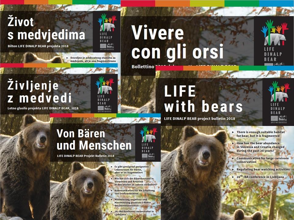 Il numero nuovo del bollettino »Vivere con gli orsi«